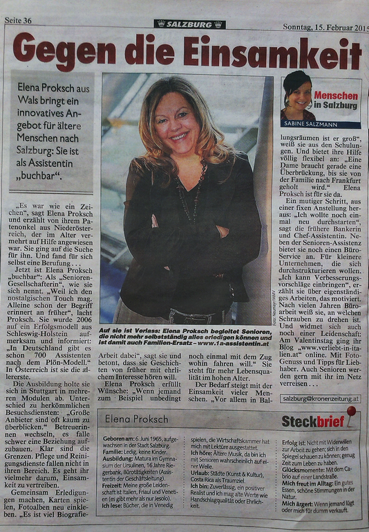 Kronen Zeitung 15.02.2015