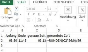 Excel runden