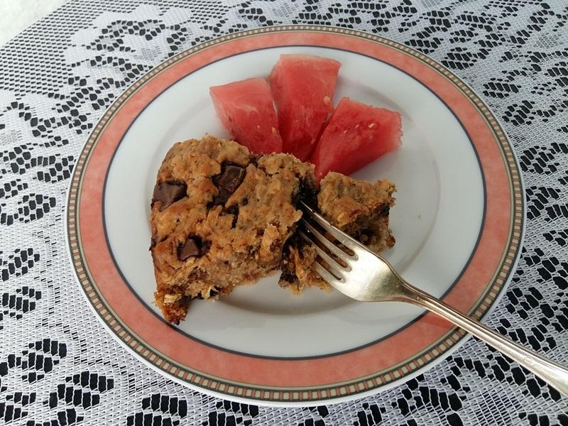 Zucchinikuchen mit Melone