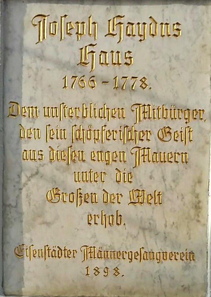 Erinnerungstafel Haydn
